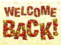 Welcome Back balloons Royalty Free Stock Images