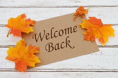 Welcome Back Card Stock Photo