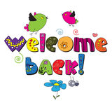 Welcome back!. Design for children's printed materials Stock Image