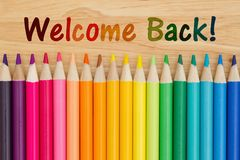 Welcome back message Royalty Free Stock Images