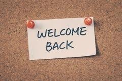 Welcome back Stock Photos
