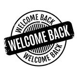 Welcome Back rubber stamp Stock Images