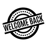 Welcome Back rubber stamp Royalty Free Stock Photo