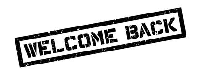 Welcome back rubber stamp Royalty Free Stock Images