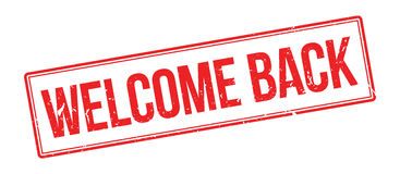 Welcome back rubber stamp Stock Photos