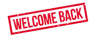 Welcome back rubber stamp Stock Photo