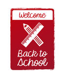 Welcome back school burgundy Stock Photo