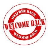 Welcome back. Stamp with text welcome back inside,  illustration Royalty Free Stock Images