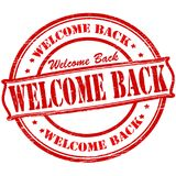 Welcome back. Stamp with text welcome back inside,  illustration Stock Photos