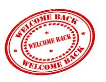 Welcome back. Stamp with text welcome back inside,  illustration Royalty Free Stock Photography