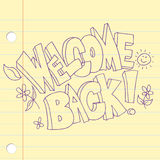 Welcome Back Text Icon Royalty Free Stock Image