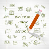 Welcome back to school Stock Image