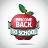 Welcome back to school apple icon Royalty Free Stock Images