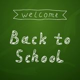 Welcome Back To School Background On Chalkboard Royalty Free Stock Images