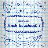 Welcome Back To School Background. royalty free illustration