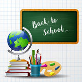 Welcome back to school background with school equipment Royalty Free Stock Photography