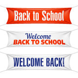 Welcome Back to School banners Royalty Free Stock Image