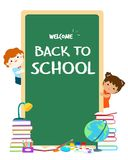 Welcome back to school blackboard  illustration. Stock Photos
