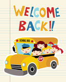 Welcome Back to School bus Stock Images