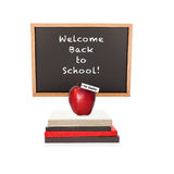 Welcome Back to School Chalkboard Books Apple Royalty Free Stock Images