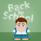 Welcome back to school character design Stock Image
