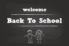Welcome Back To School Children Royalty Free Stock Photos