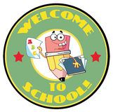 Welcome back to school circle Stock Photo
