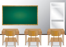 Welcome back to school and classroom. Illustration of students in the classroom. Royalty Free Stock Photo
