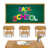 Welcome back to school. Classroom of student. Stock Photo