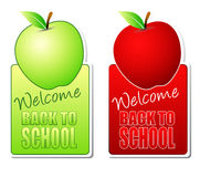 Welcome back to school color labels Stock Image