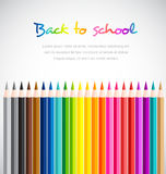 Welcome back to school with Color pencils background Royalty Free Stock Images