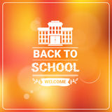 Welcome Back To School Colorful Logo Stock Image