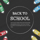 Welcome back to school stock illustration