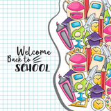 Welcome back to school doodle clip art Royalty Free Stock Photos