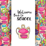 Welcome back to school doodle clip art Royalty Free Stock Photo