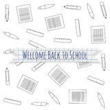 Welcome Back to School festive Label Stock Images