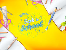 Welcome back to school greeting card. EPS 10 Royalty Free Stock Photos