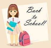 Welcome Back to School greeting card Royalty Free Stock Photo