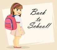 Welcome Back to School greeting card Stock Photography