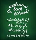 Welcome back to school Handwritten alphabet Stock Image