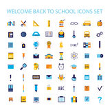 Welcome back to school icon set Stock Photos