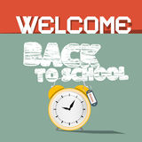 Welcome Back to School Illustration Royalty Free Stock Images