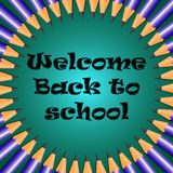 Welcome Back to school. The information poster Welcome back in school Royalty Free Stock Photos