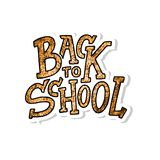 Welcome back to school lettering quote. Back to school sale tag. Hand drawn lettering badges. Typography emblem set. Chalk