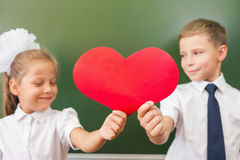 Welcome back to school with love from little kids Stock Image