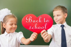 Welcome back to school with love from little kids Royalty Free Stock Images