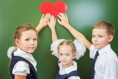 Welcome back to school with love from little kids Stock Photos