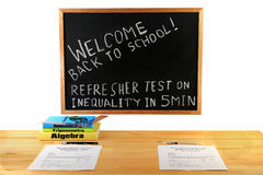 Welcome Back to School - Math Class Royalty Free Stock Photo