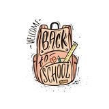 Welcome back to school pink Royalty Free Stock Photography