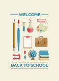 Welcome Back To School Poster Stock Photography